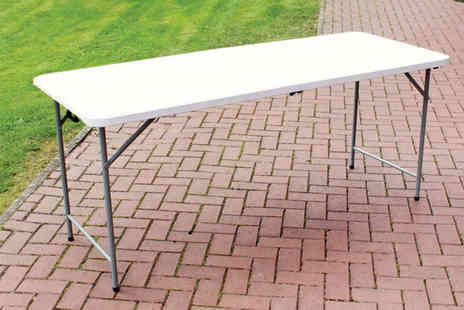 Wido - Six foot folding trestle table get outdoors - Save 53%