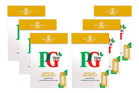 Avant Garde - Six pack of 80 PG Tips English breakfast tea bags - Save 0%