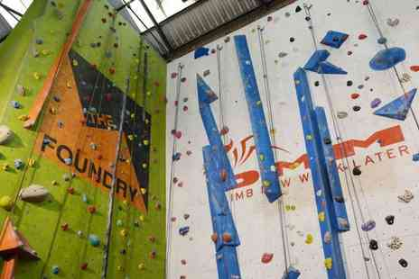 The Foundry Climbing Centre - Two hour introduction to climbing session for one person - Save 50%
