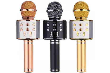 Apricot Leaf - Karaoke Microphone with Bluetooth Speaker Choose from 3 Colours - Save 80%