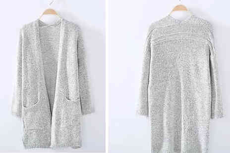 Domosecret - Long Knitted Cardigan Choose from 3 Colours and 8 Sizes - Save 80%