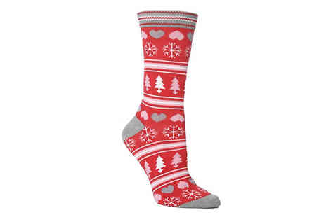 Wish Whoosh Offers - 6 Pack of Womens Novelty Christmas Socks - Save 78%