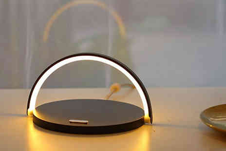 WowWhatWho - Wireless Charger With Night Light Choose from 2 Colours - Save 70%