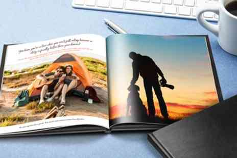 Printerpix - 20, 40 or 60 Page Hardback Square Photobook - Save 84%