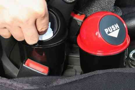 Groupon Goods Global - One, Two or Three Drink Holder Car Rubbish Bins - Save 73%