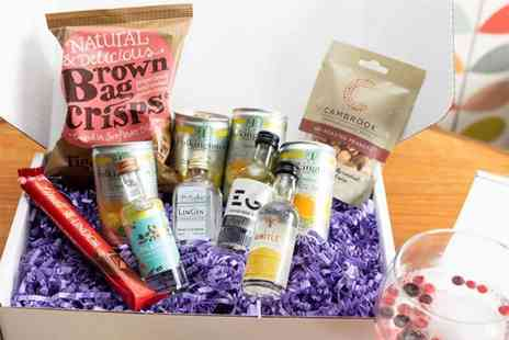 Bottle in a Box - Small personalised gin hamper or large hamper - Save 51%