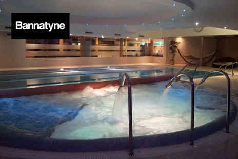 Bannatyne Spa - Spa day for two people with four treatments, lunch, a drink and a £5 voucher each - Save 56%