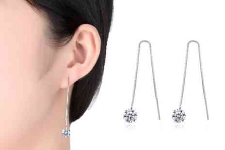 Solo Act - Drop thread crystal earrings - Save 76%