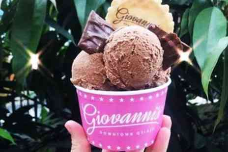 Giovannis Downtown Gelato - Up to Three Scoops of Italian Gelato for Up to Six - Save 42%