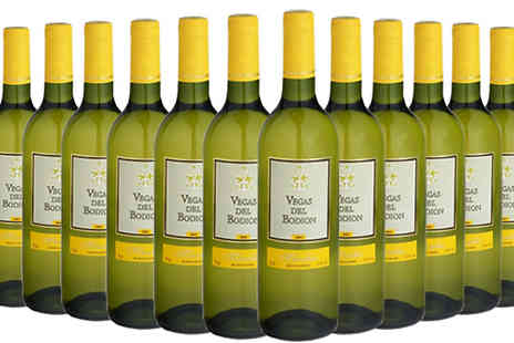 MGB Lifestyles - 12 Bottles of Vegas Del Bodion Tempranillo Choose from Red or White Wine - Save 70%
