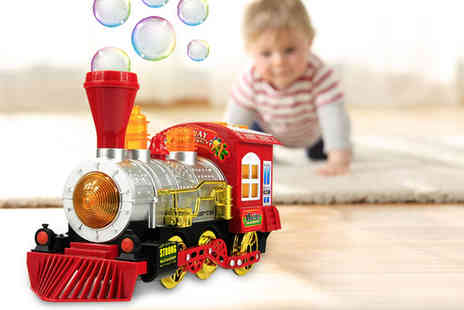 Litnfleek - Train bubble machine with music and lights - Save 80%