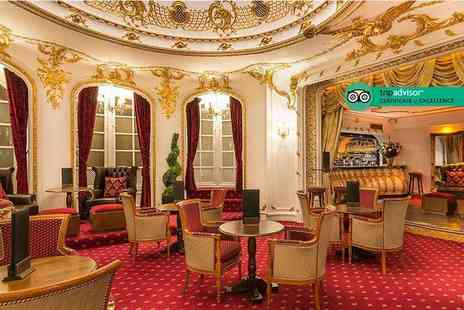 Grand Royale London - Traditional afternoon tea for two people with a bottle of Moet and Chandon Brut NV champagne to share - Save 59%