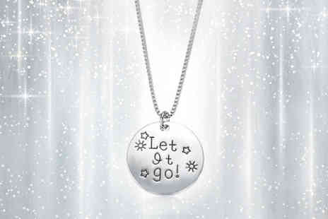 India Rose Designs - Silver Coloured Let It Go Necklace - Save 84%