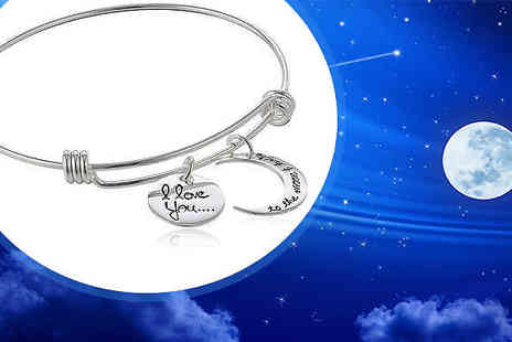 India Rose Designs - Moon And Back Charm Bracelet - Save 83%