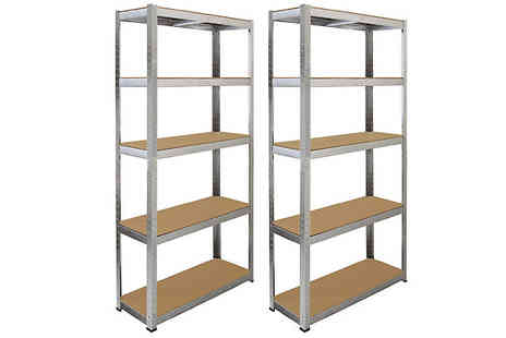 monster shop - 2 or 4 x Multifunctional Fortified Steel Shelves - Save 87%