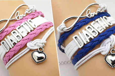 Crazee Trend - Diabetic Braided Bracelet Choose from 2 Colours - Save 50%