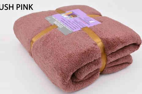 Home Decoration World - Teddy Bear Blanket Choose from 2 Sizes and 6 Colours - Save 65%