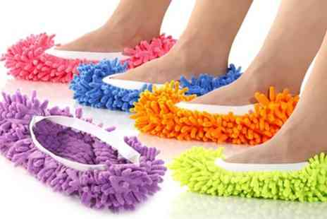 Groupon Goods Global - One, Two or Three Pairs of Floor Polishing and Cleaning Mop Slippers - Save 75%