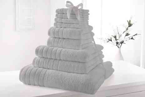 Groupon Goods Global GmbH - Nine Piece Elizabeth Jayne 500gsm Egyptian Cotton Towel Bale - Save 0%