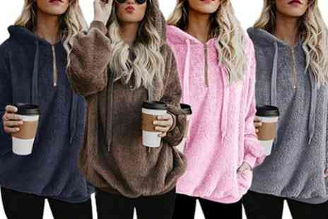 Groupon Goods Global GmbH - One or Two Womens Fleece Hooded Sweaters - Save 0%