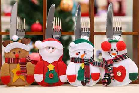 hey4beauty - Pack of six Christmas cutlery covers and two pack contain twelve - Save 80%