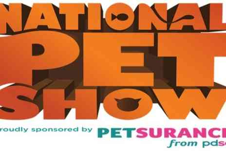 The National Pet Show - One child or adult day ticket from 2nd To 3rd November - Save 25%