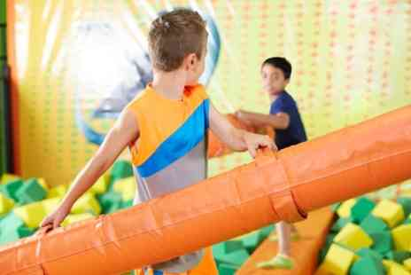 Eden Softplay - Soft Play Entry with Meal and Squash for Up to Four Kids - Save 24%