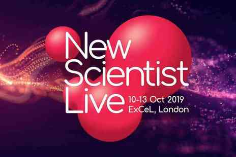 New Scientist Live - Dont miss this extraordinary festival of ideas and discoveries, designed Plus Priority Entry and 4 week Subscription to New Scientist Magazine - Save 20%