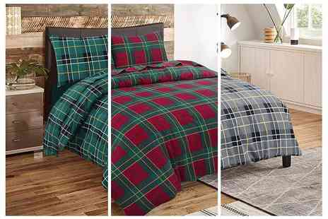 E Home Store - Tartan bedding set choose from three sizes - Save 46%