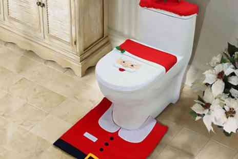 Groupon Goods Global GmbH - Three Piece Christmas Toilet Seat Cover Set  - Save 50%