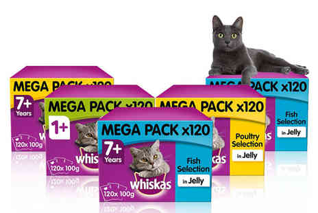 Trojan - Selection of Whiskas cat food in jelly pouches - Save 23%