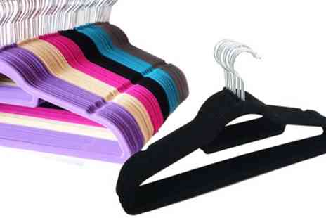 Groupon Goods Global GmbH - Up to 80 Flocked Coat Hangers - Save 56%