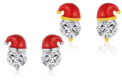 Gemnations - Pair of Christmas Santa hat earrings - Save 84%