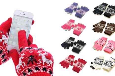 Groupon Goods Global GmbH - Festive Touchscreen Gloves - Save 0%