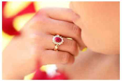 Ah Jewellery - Gold filled genuine ruby ring - Save 0%