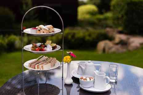 Barnsdale Hall Hotel - Afternoon tea for two people with a glass of Prosecco each - Save 37%