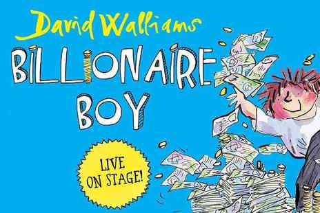 UCL Culture - David Walliams Billionaire Boy Hilarious Family Fun this Christmas, Early Bird Offer - Save 20%