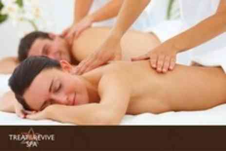Treat and Revive Spa - One Hour Spa Ritual For Two Including Swedish Massage, Scalp Massage and Choice of Facial - Save 79%
