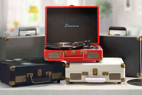 CJ Offers - Zennox briefcase turntable - Save 65%