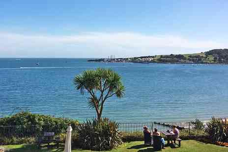 The Grand Hotel - Lunch and wine for Two with views across Swanage Bay - Save 52%