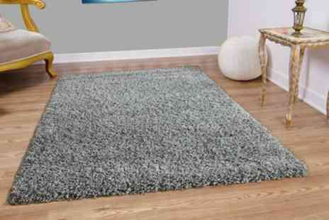 Groupon Goods Global GmbH - Modern Shaggy Rug in Choice of Size and Colour - Save 63%