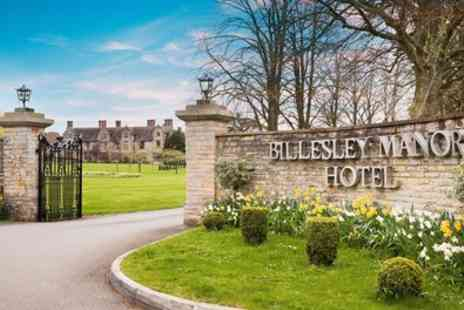 Billesley Manor Hotel - Standard or Superior Room for Two with Breakfast, Dinner and Late Check Out - Save 28%