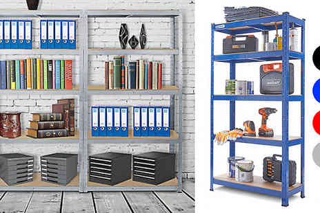 CN Direct Biz - 5 Tier Boltless Metal Storage Shelving Unit Choose from 4 Colours with Free Delivery - Save 84%