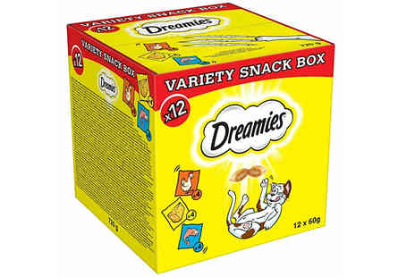 Trojan Electronics - Dreamies 720g Variety Snack Box with Chicken, Cheese and Salmon - Save 29%