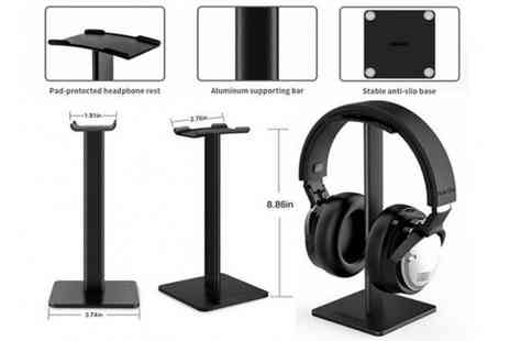 MBLogic - Metal Headphone Stand Choose from 2 Colours - Save 75%