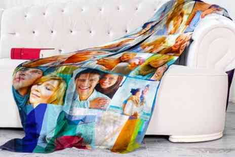 Printerpix - One or Two Personalised Photo Blankets in Choice of Sizes - Save 81%