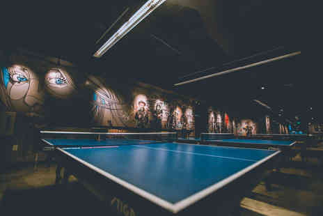 DropShot Digbeth - One hour session of table tennis for two people glass of wine, Prosecco, beer or a soft drink each - Save 40%