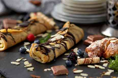 NuCrema - Two Sweet or Savoury Crepes with Two Warm or Cold Drinks - Save 36%