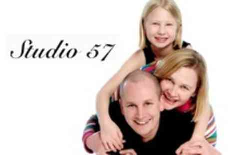 Studio 57 - Photo Shoot With Photo CD and A4 Print - Save 91%