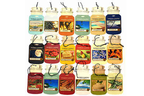 Yankee Bundles - 9 Assorted Yankee Candle Classic Car Jar Air Fresheners - Save 20%